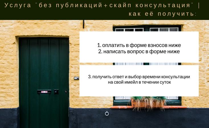 Услуга «вопрос без публикации»