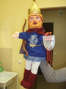 богатырь для кукольного театра